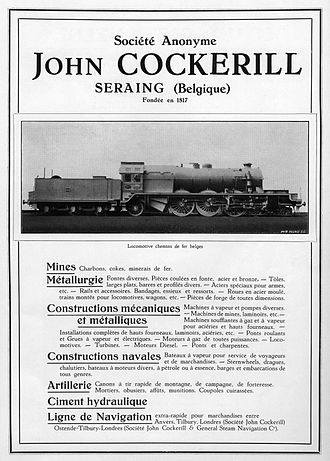 John Cockerill (company) - Poster for the SA Cockrill, 1928