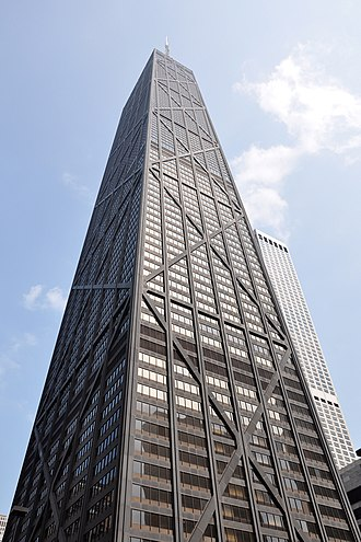 High-tech architecture - The John Hancock Center, completed 1969, Chicago