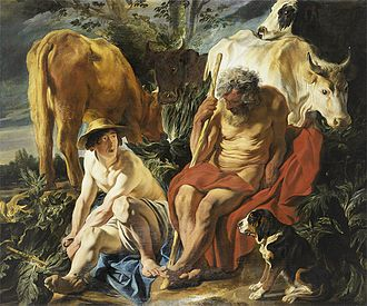 Argus Panoptes - Mercury and Argus, by Jacob Jordaens, ca 1620 - Museum of Fine Arts of Lyon