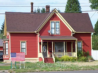 National Register of Historic Places listings in Polk County, Oregon - Image: Joseph & Priscilla Craven House Monmouth
