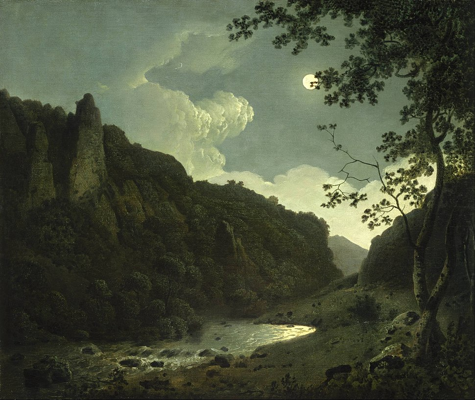 Joseph Wright of Derby - Dovedale by Moonlight - Google Art Project