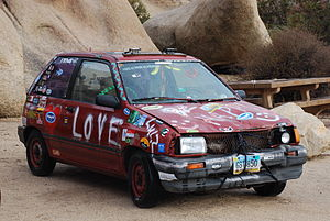English: Jalopy car in Joshua Tree National Pa...