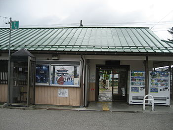 English: JR East Shinano-Matsukawa Station Fra...