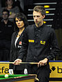 Judd Trump and Michaela Tabb at Snooker German Masters (DerHexer) 2013-01-30 01.jpg