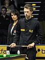 Judd Trump and Michaela Tabb at Snooker German Masters (DerHexer) 2013-01-30 01.jpg