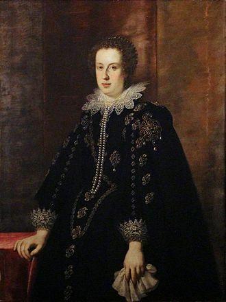 Claudia de' Medici - Image: Justus Sustermans Claudia de' Medici, 1626, Appartamenti reali, Pitti
