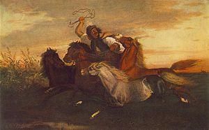 Károly Lotz - Galloping Outlaw (circa 1857)