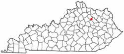 Location of Sharpsburg, Kentucky