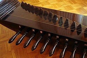 Kacapi - Details of tuner elements of a Kacapi Parahu