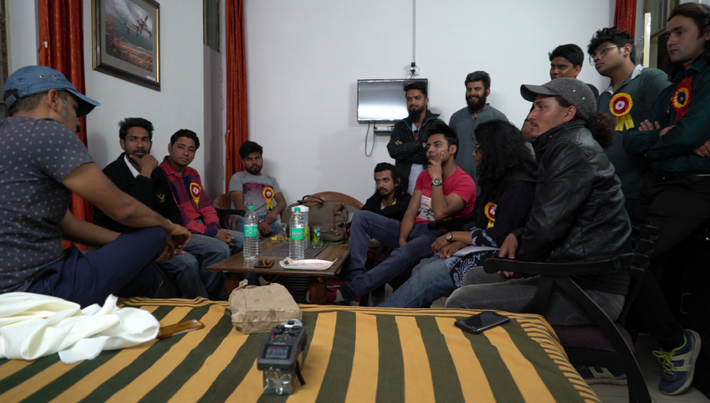 File:Kamaljeet Negi offers cinematography tips to the student organisers of Kautik Student Film Festival.png