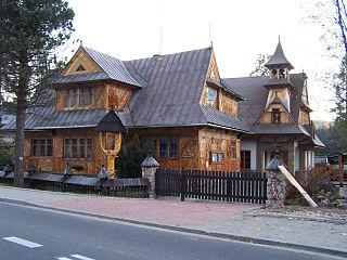Kościelisko Village in Lesser Poland Voivodeship, Poland
