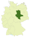 Map of Germany with the location of Saxony-Anhalt highlighted