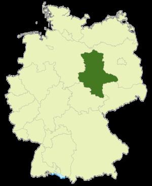 Verbandsliga Sachsen-Anhalt - Image: Karte DFB Regionalverbände ST