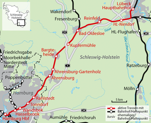 Lübeck–Hamburg railway - The Lübeck–Hamburg line