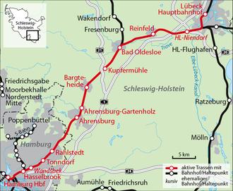 Lübeck–Hamburg railway - The Lübeck–Hamburg line