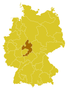Map of the Diocese of Fulda