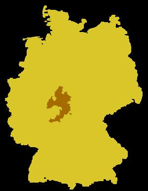 Roman Catholic Diocese of Fulda - Image: Karte Bistum Fulda