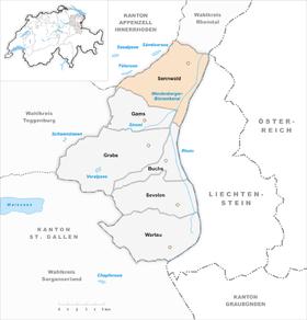 Karte von sennwald