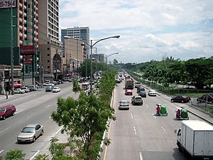Katipunan Avenue in Quezon City, fronting Aten...