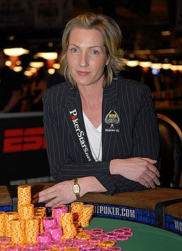 Katja Thater tijdens deWorld Series of Poker 2007