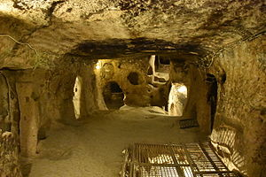 Kaymakli Underground City - A large room several floors down into the city.
