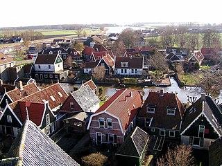 Kolhorn Village in North Holland, Netherlands