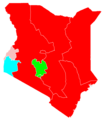 Kenyan presidential election, 1997 Results by province.png