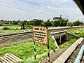 Kesavaram railway station board.jpg