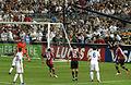 Kevin-Prince Boateng (shooting to goal) – A.C. Milan vs. Real Madrid 2012.jpg