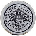 Kfz-Zulassungsplakette Siegel der Stadt Köln 250.jpg
