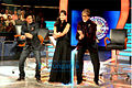 Khan and Kaif on the sets of KBC6.jpg