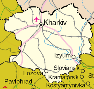 Kharkiv Oblast - Detailed map of Kharkiv Oblast.