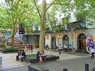 Auckland CBD - Khartoum Place, a pedestrian square in the central CBD
