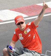 Räikkönen durante la sfilata dei piloti precedente il GP del Canada 2008