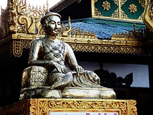 Mindon Min - Statue of King Mindon at Mandalay