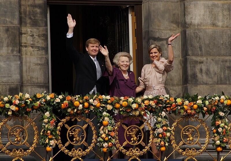 King Willem-Alexander, Princess Beatrix en Queen Maxima.jpg
