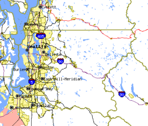 King County, Washington - Map of King County