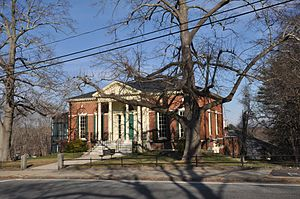 National Register of Historic Places listings in Plymouth County, Massachusetts - Image: Kingston MA Adams Library Building