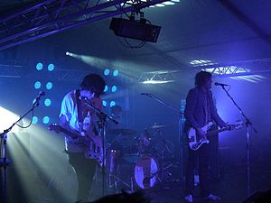 New rave - Klaxons in concert in 2007