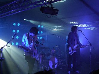 Psychedelic music - New rave band the Klaxons in concert in 2007