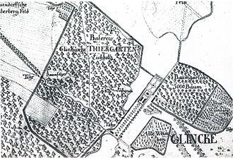 Park Glienicke - Image: Klein Glienicke Plan Suchodoletz
