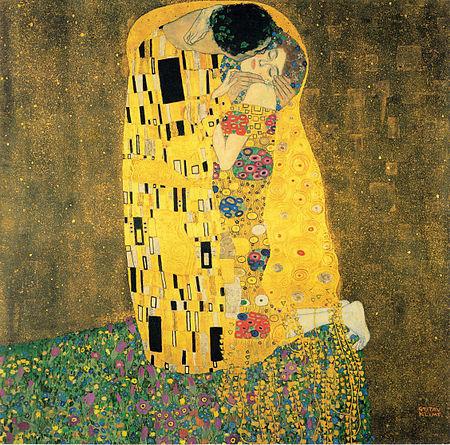 The Kiss, Gustave Klimt 1907-1908. Österreichische Galerie Belvedere, Vienna,