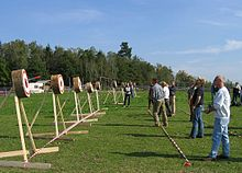 Knife throwing competition 2005 in Germany.