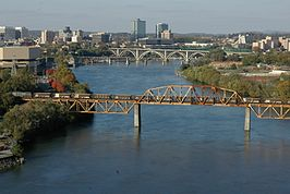De Tennessee River in Knoxville (Tennessee)