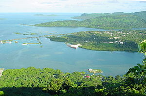 View of a bay in the Federated States of Micronesia