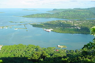 Pohnpei - Kolonia Town looking down from Sokehs Ridge