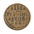Kopparmynt, 3 pfennig, 1738 - Skoklosters slott - 109692.tif