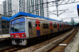 Korail Line 1 train at Singil.JPG