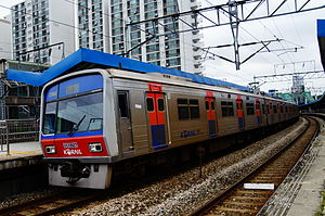 Seoul Subway Line 1 - Image: Korail Line 1 train at Singil