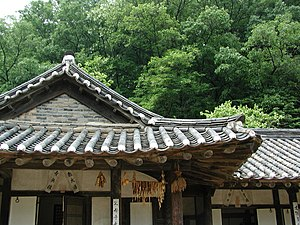 Traditional Korean roof construction - Giwa